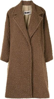 UMA WANG Double-Breasted Shaggy Coat