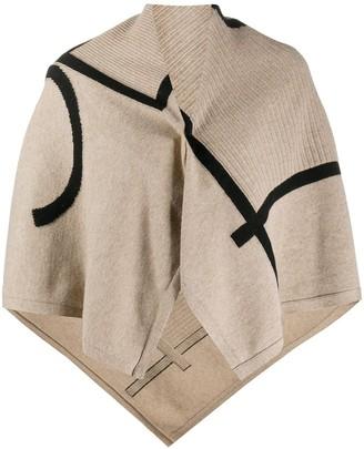 Joseph Abstract Pattern Knit Poncho