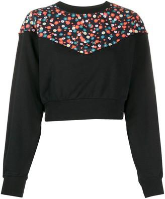 Nike Floral-Print Cropped Sweatshirt