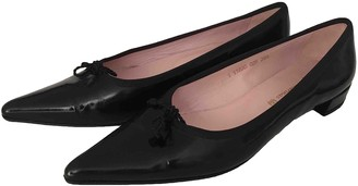 Pretty Ballerinas Black Leather Ballet flats