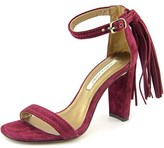 Cynthia Vincent Walter Women Open Toe Suede Burgundy Sandals.