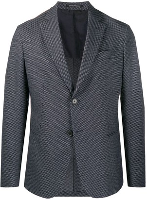 Emporio Armani All-Over Patterned Tailored Blazer