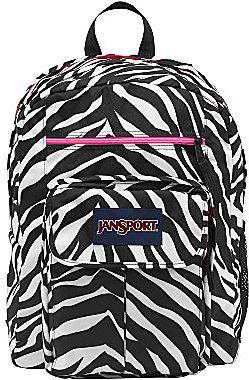JanSport Digital Big Student Backpack in Zebra Print