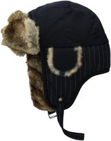 Haggar Men's Wool Stripe Trapper Hat