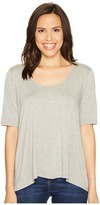 Three Dots 1/2 Sleeve Relaxed High-Low Tee Women's Clothing