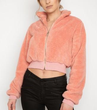 New Look NaaNaa Mid Teddy Crop Jacket