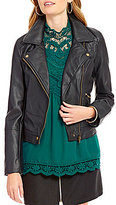 Takara Faux-Leather Moto Jacket