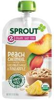 Sprout 3.5 oz. Stage 2 Peach Organic Oatmeal with Coconut Milk and Pineapple