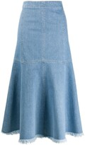 Simonetta Ravizza flared midi denim skirt