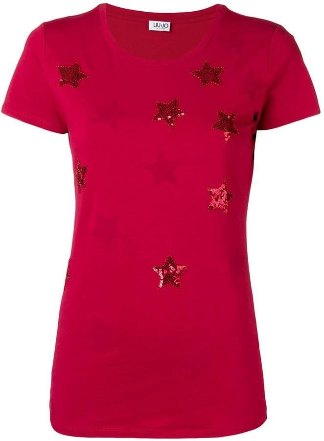 Liu Jo stars embellished T-shirt