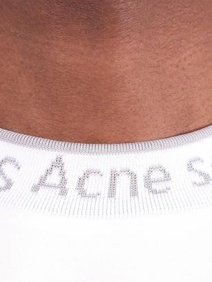 Acne Studios Crew-neck Logo Trim T-shirt Optic White