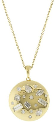 Kwiat 18kt yellow gold Cobblestone diamond pendant pendant necklace