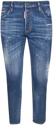 DSQUARED2 Skater Machine Splatted Detail Jeans