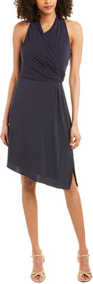Halston Faux Wrap Dress