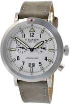 Filson F0110000338 Scout White Chronograph Dial Gray Suede Strap Men's Watch