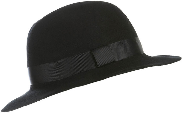 Topman Black Wide Brim Hat