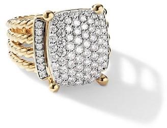 David Yurman Wheaton Ring with Diamonds in 18K Yellow Gold