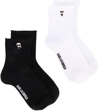 Karl Lagerfeld Paris pack of two K/Ikonik socks