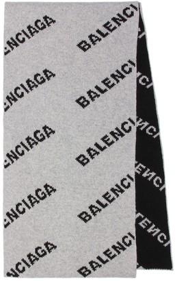 Balenciaga Camel hair and wool scarf