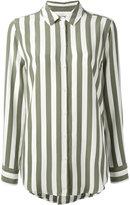 Equipment crepe de chine striped shirt - women - Silk - L