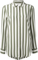Equipment crepe de chine striped shirt