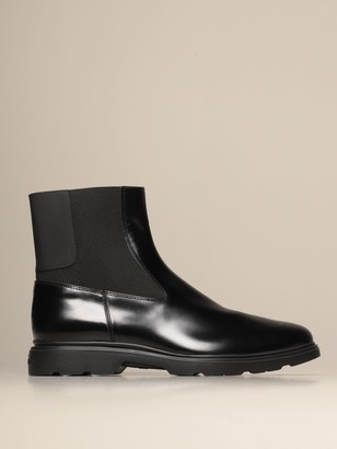 Hogan H393 Chelsea Boot In Brushed Leather