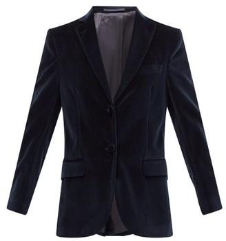 Officine Generale Charlene Cotton-velvet Suit Jacket - Navy