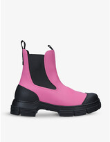 Thumbnail for your product : Ganni Recycled rubber Chelsea boots