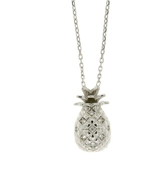 Cosanuova Sterling Silver Pineapple Cz Necklace