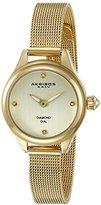 Akribos XXIV Women's AK873YG Round Champagne Dial Two Hand Quartz Bracelet Watch