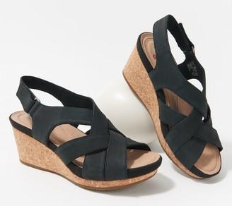 Clarks Leather Wedges - Un Capri Step