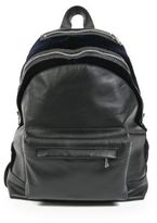 Balmain Leather & Canvas Backpack