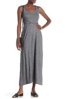 Max Studio Trimmed Slub Maxi Dress