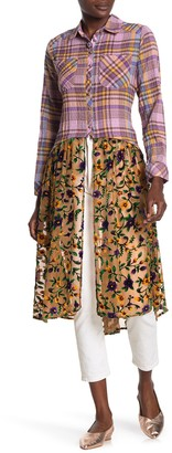 Aratta Lilou Printed Maxi Shirt