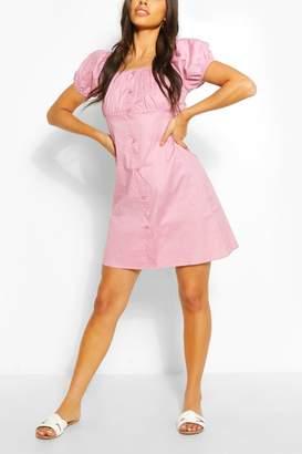 boohoo Puff Sleeve Mini Dress