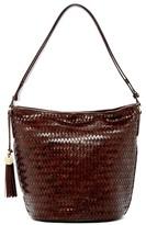 Cole Haan Celia Woven Leather Bucket Bag