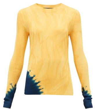 Proenza Schouler Tie-dye Rib-knitted Sweater - Womens - Yellow Print