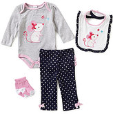 Starting Out Baby Girls Newborn-9 Months Mouse 4-Piece Layette Set