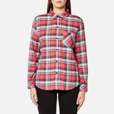 Rails Women's Milo Check Shirt Bonfire/Ash