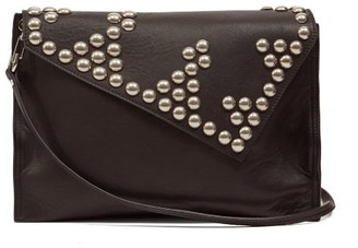 Isabel Marant Tryne Studded Leather Cross-body Bag - Black