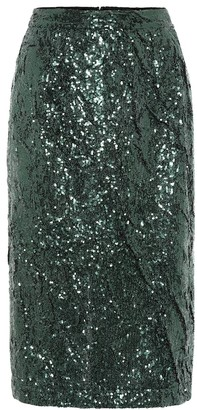 N°21 Sequined pencil skirt