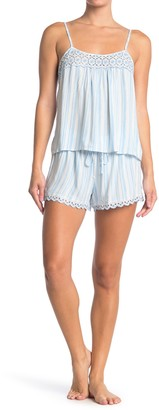 Jonquil Striped Camisole & Shorts 2-Piece Pajama Set