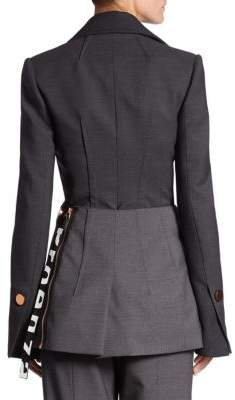 Proenza Schouler Long Sleeve Wrap Blazer