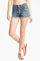 'Chloe' Print High Waist Cutoff Shorts (Morris)