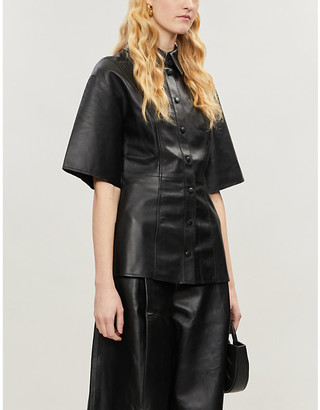 Camilla And Marc Axel short-sleeved leather shirt