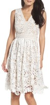 Maggy London Women's Lace Fit & Flare Dress
