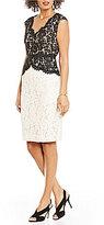 Eliza J Scallop Detail Lace Dress