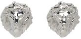 Versus Silver Lion Head Earrings