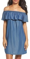 Tommy Bahama Women's Off The Shoulder Chambray Cover-Up Dress