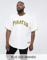 Majestic Plus Mlb Pittsburgh Pirates Baseball Replica Jersey In White